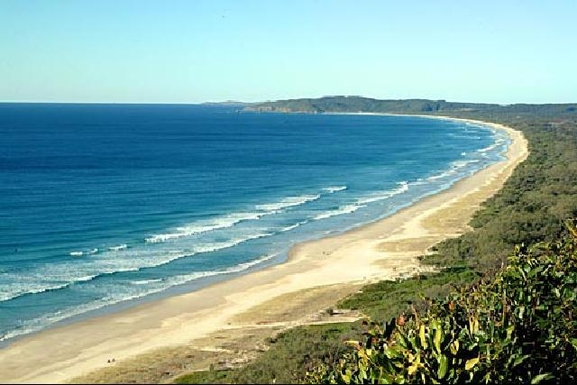 Home exchange in,Australia,BYRON BAY,The view from Main Beach around to the Lighthouse