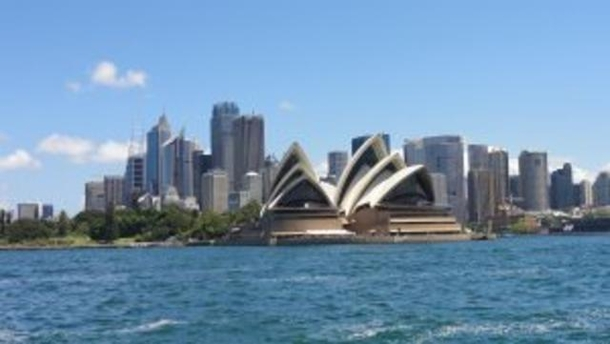 Home exchange in,Australia,NEUTRAL BAY,Sydney Opera House from ferry en route to city.