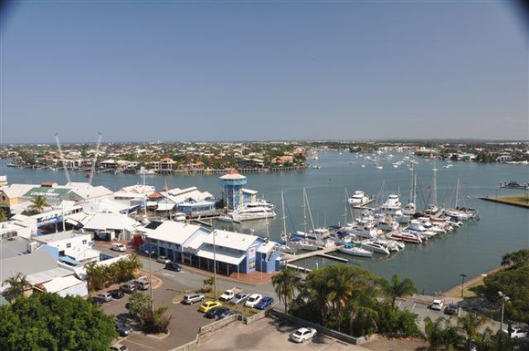 Home exchange in,Australia,MOOLOOLABA,Another view South incorporating the Marina.