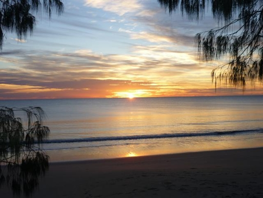 Home exchange in,Australia,WOODGATE,Sunrise from our beach