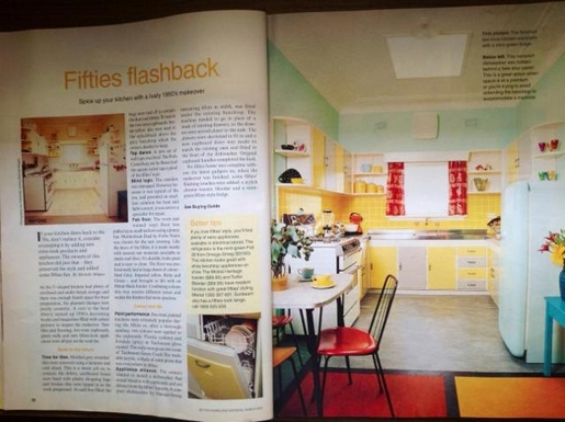 Home exchange in,Australia,RANDWICK,Magazine story about our 1950s kitchen