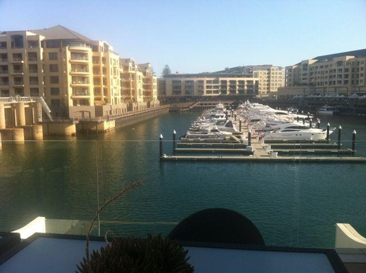 Home exchange in,Australia,GLENELG NORTH,View looking across the marina - cafes to the righ