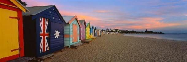 Home exchange in,Australia,Melbourne, 15k, S,Brighton's famous bathing boxes
