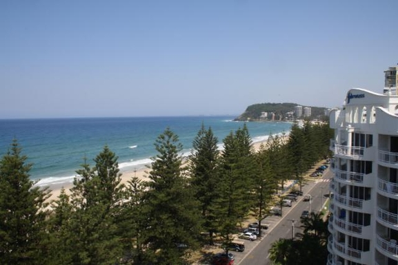 Home exchange in,Australia,NORTH BURLEIGH,View of Burleigh Beach taken from rooftop area.