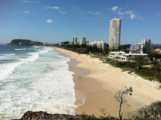Home exchange in,Australia,NORTH BURLEIGH,View of Burleigh Beach from the north.