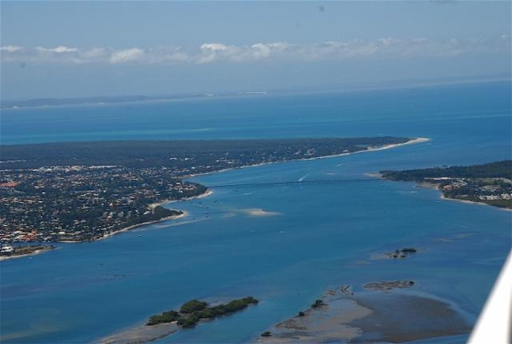 Home exchange in,Australia,WOORIM,Bridge from mainland (R) to Bribie Island (L)