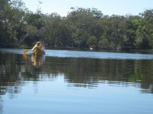 Home exchange in,Australia,WOORIM,Kayaking on one of Bribie's freshwater lakes