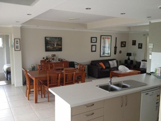 Home exchange in,Australia,URANGAN,Dining and Living Area from Kitchen