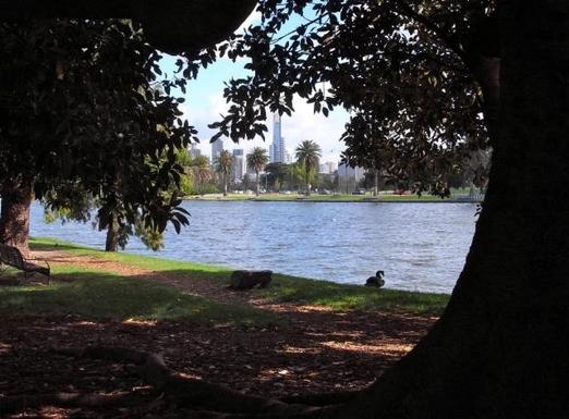 13. Albert Park Lake, 10 minutes walk away.
