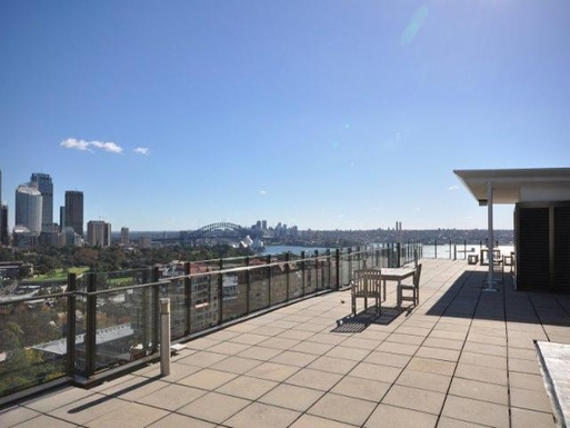 Home exchange in,Australia,POTTS POINT,Another view from the huge roof terrace equiped wi