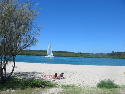Home exchange in,Australia,TWEED HEADS,The main Tweed river at the rear of our complex