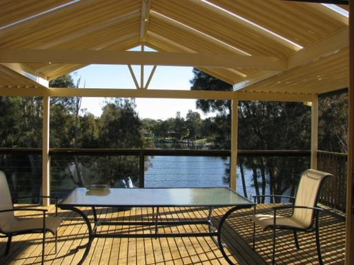 Home exchange in,Australia,SUSSEX INLET,View from large covered deck off the dining area -
