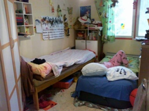 BoligBytte til,Finland,Villähde,Bedroom with extra bed