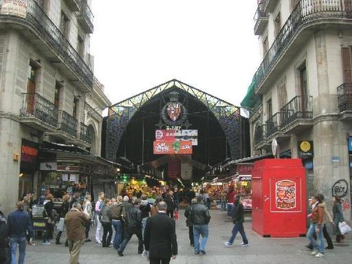 Entrance to the market La Boqueria