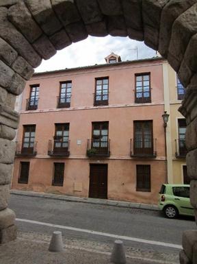 BoligBytte til,Spain,Segovia centro a 90 km de Madrid,la casa vista desde el Acueducto romano