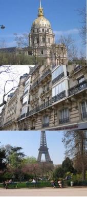 Invalides. Our building. Champ de Mars.