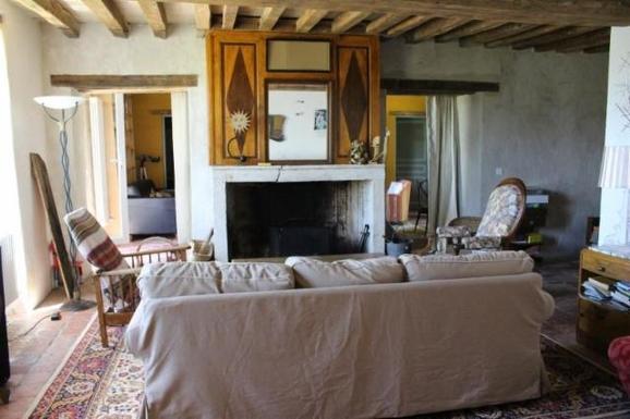 BoligBytte til,France,sougères en puisaye,salon et cheminée