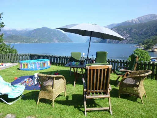 BoligBytte til,Norway,Bergen, 110k, SE,Our garden, in front of the kitchen and dining are