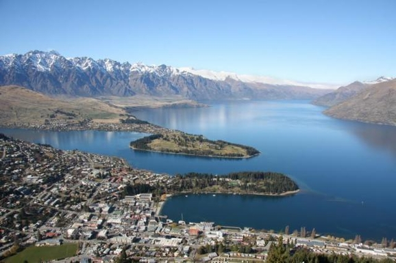 Queenstown on the shores of Lake Wakatipu