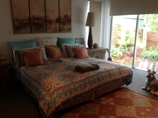 Home exchange in,Australia,Tewantin,Master bedroom, king size bed.