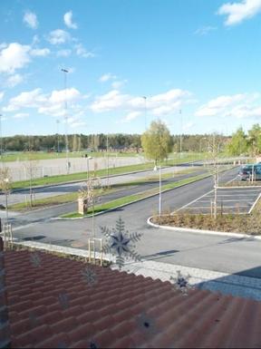 BoligBytte til,Sweden,Stockholm, 0k, SE,Private street. Football & baseball field + forest