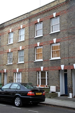 The outside of our  small Victorian terraced house