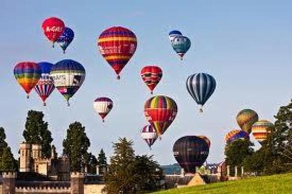 The famous balloon fiesta in Bristol