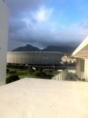 BoligBytte til,South Africa,Cape Town, 2k, W,View of Cape Town Football Stadium and Table Mount