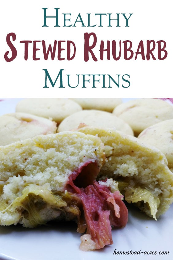 I just love these easy rhubarb muffins! This is such a quick and easy recipe to make with homemade stewed rhubarb. If your looking for a healthy sugar free stewed rhubarb dessert recipe idea you just have to try this one!