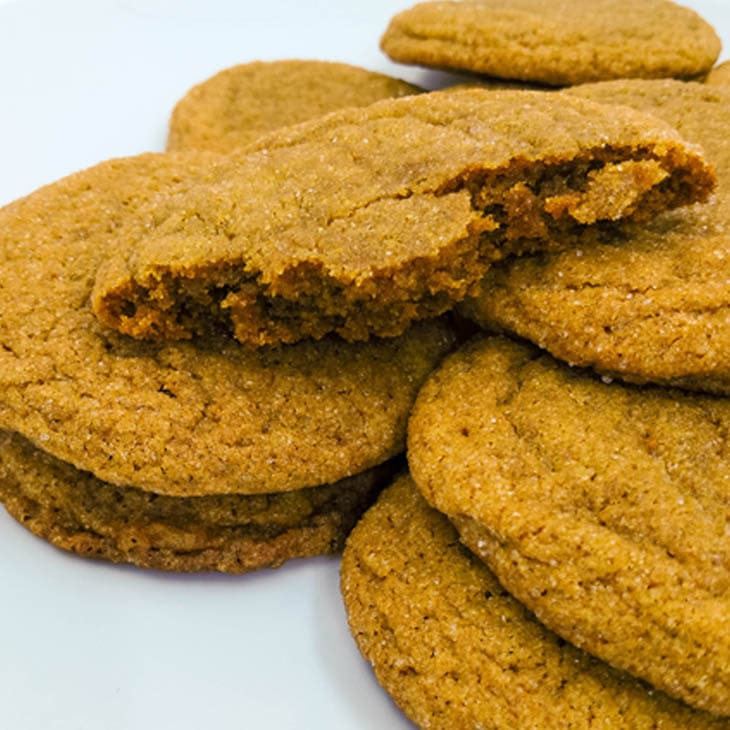 Old fashioned soft ginger molasses cookies