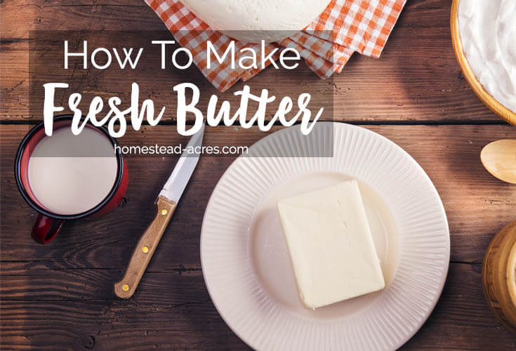 How To Make Butter. Easy Homemade Butter Recipe www.homestead-acres.com