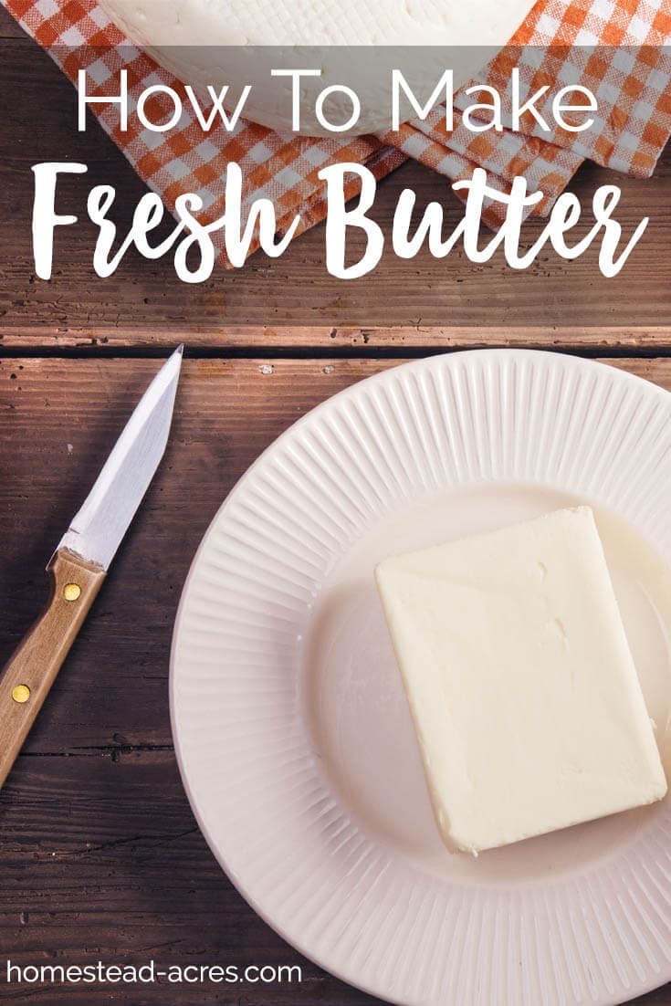 How to make butter in a stand mixer. Easy homemade butter recipe. www.homestead-acres.com