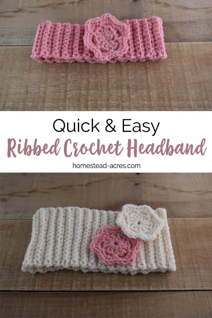 Crochet Headband Pattern: Quick And Easy Ribbed Crochet Headband ...