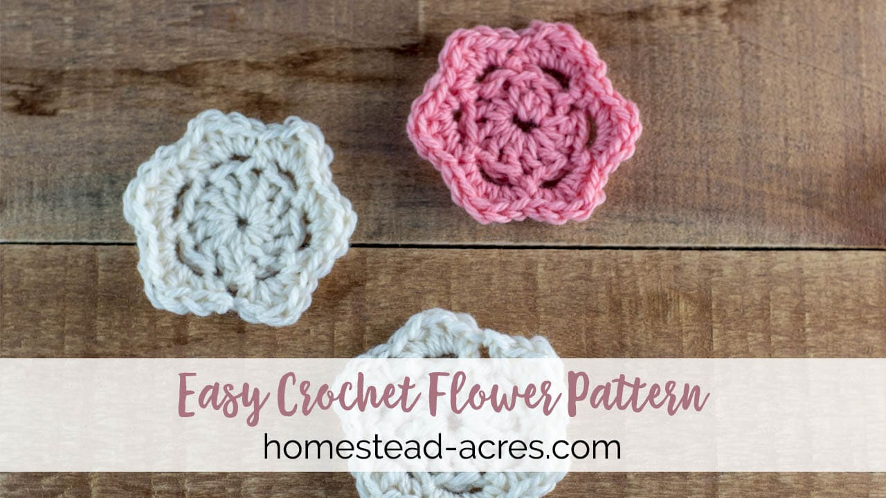 Easy Crochet Flower Pattern With Step By Step Video And Photos ...