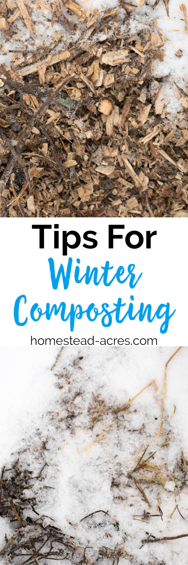 Winter composting tips for beginners. Learn how to make compost even in cold weather so you have nutrient rich fertilizer for your spring garden. #gardening #composting #homesteading