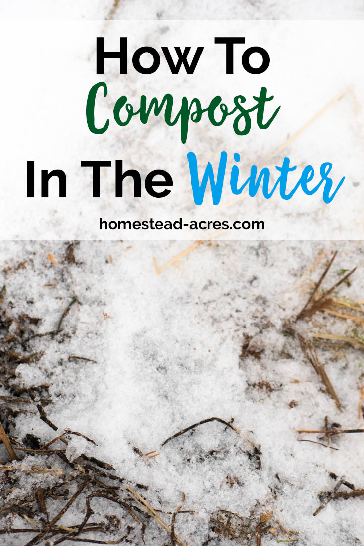 How to make compost in cold weather. Simple tips to keep your compost pile active during the winter. #gardening #composting #wintergarden
