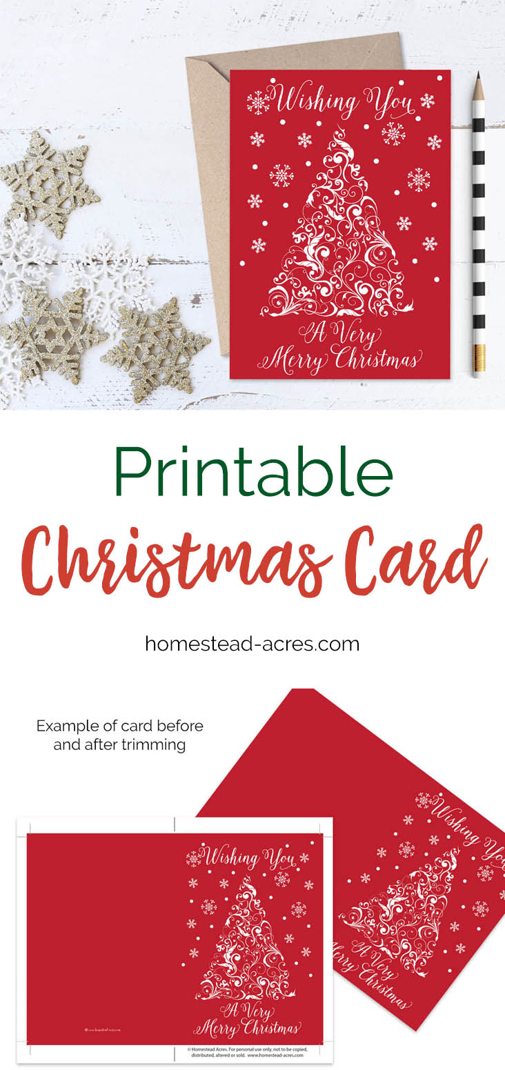spread some christmas cheer with this beautiful red and white printable christmas card white christmas - Merry Christmas Cards Printable