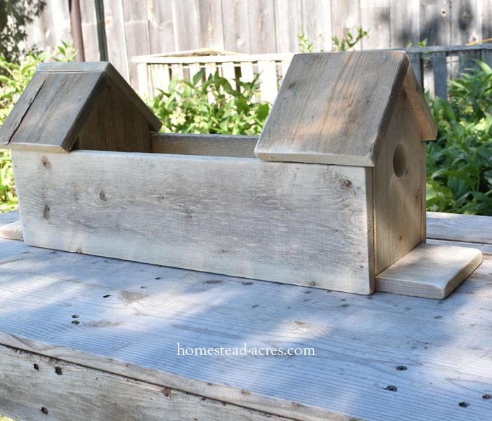 Birdhouse planter box