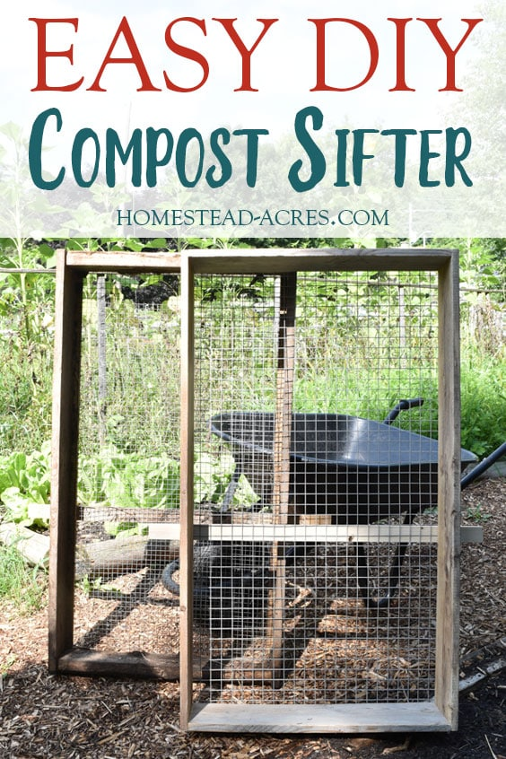 DIY Compost Sifter Plans