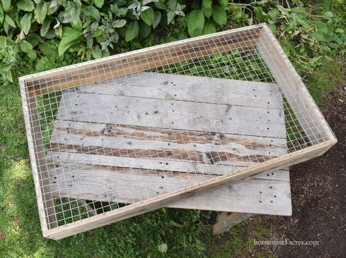 homemade compost sifter