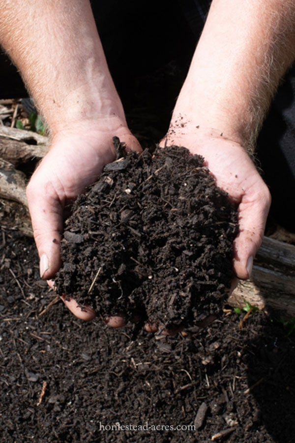 Fine sifted compost made using a DIY compost sifter