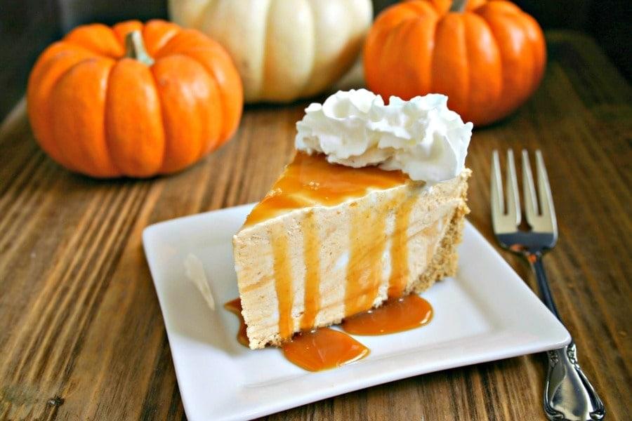 Frozen Pumpkin Pie Cheesecake