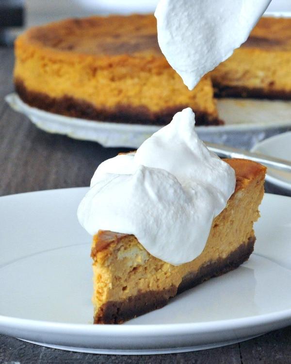 Maple Cream Pumpkin Cheesecake