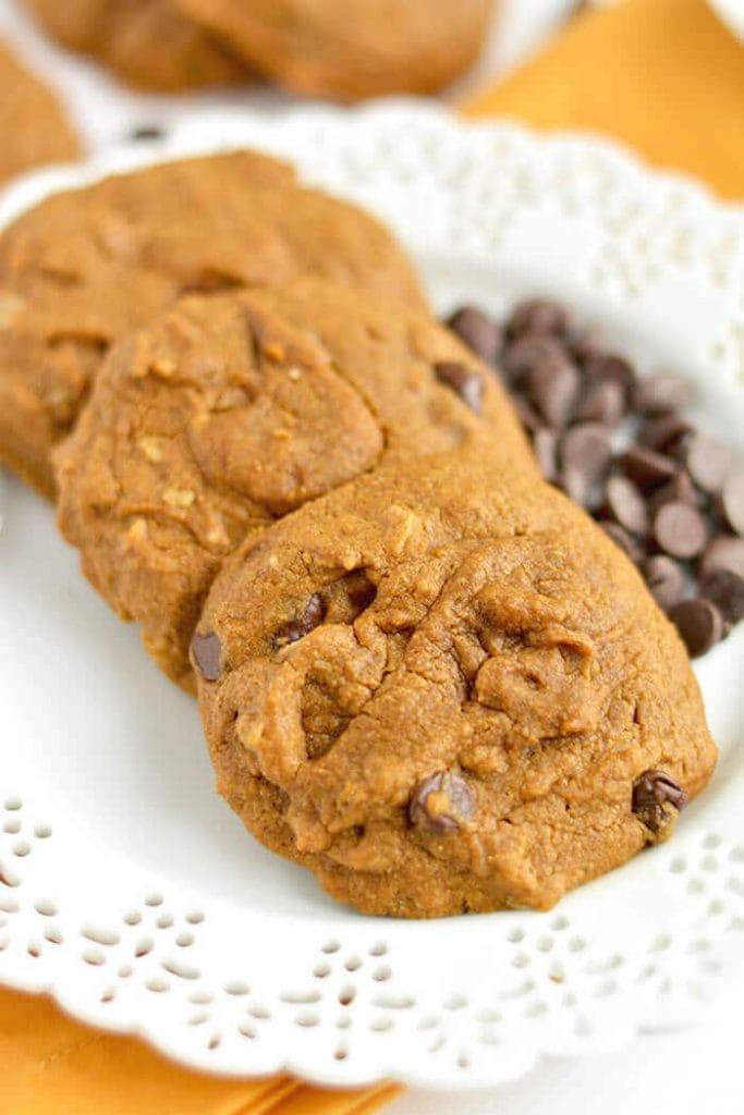 Pumpkin Chocolate Chip Oatmeal Cookies