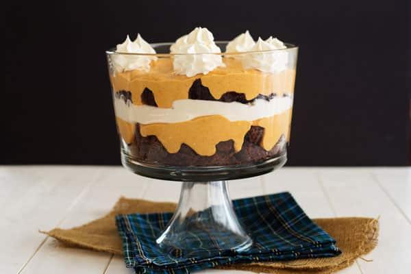 Pumpkin Brownie Trifle
