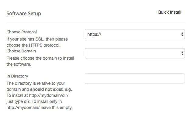 How To Install WordPress Select The Domain Name