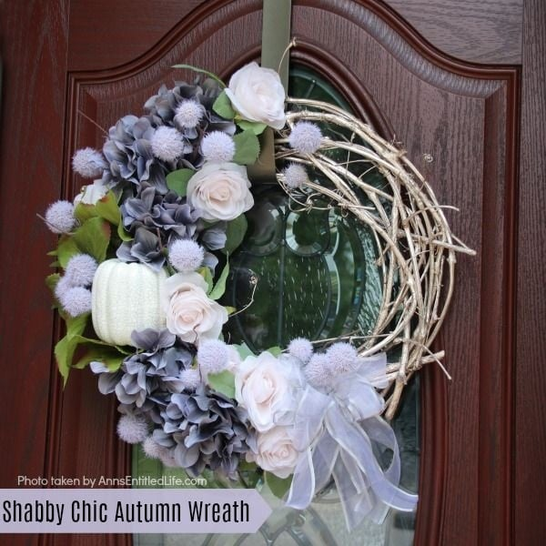 DIY Shabby Chic Fall Wreath