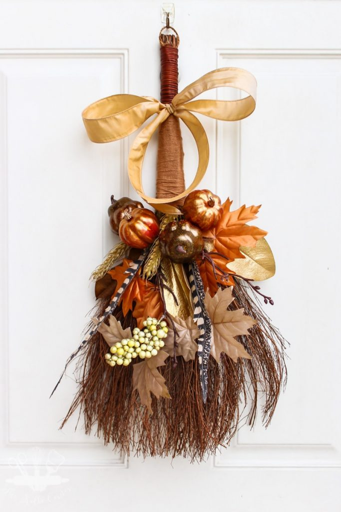 Rustic Fall Cinnamon Broom Wreath