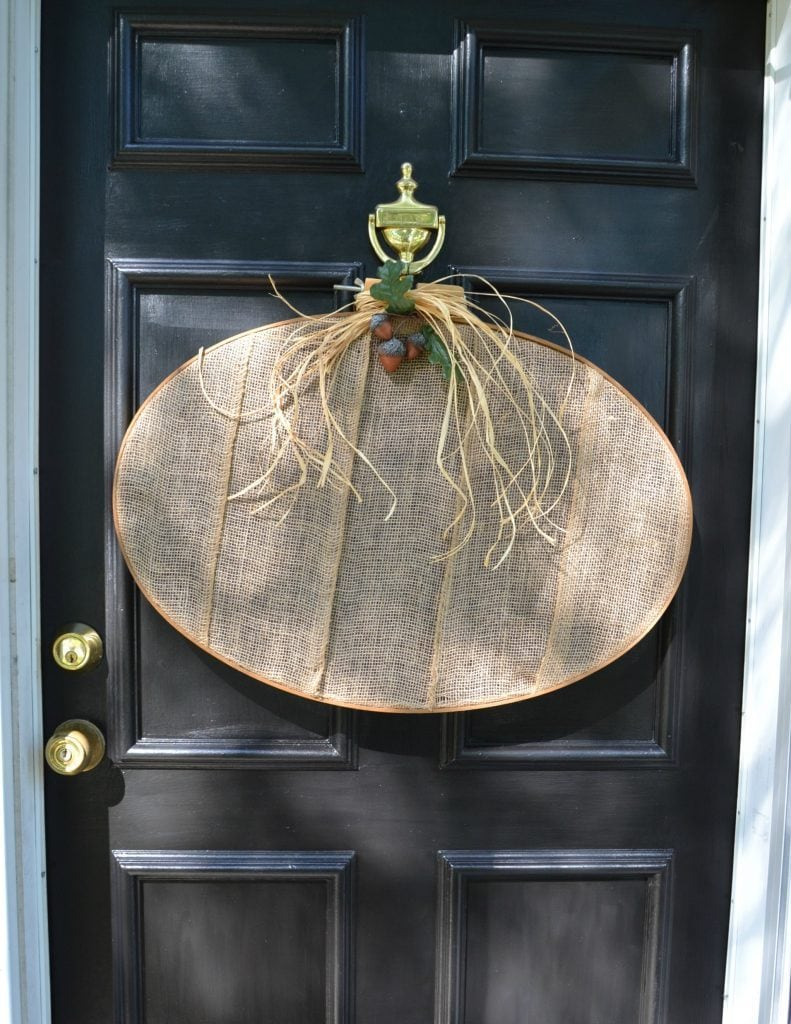 DIY Burlap pumpkin wreath