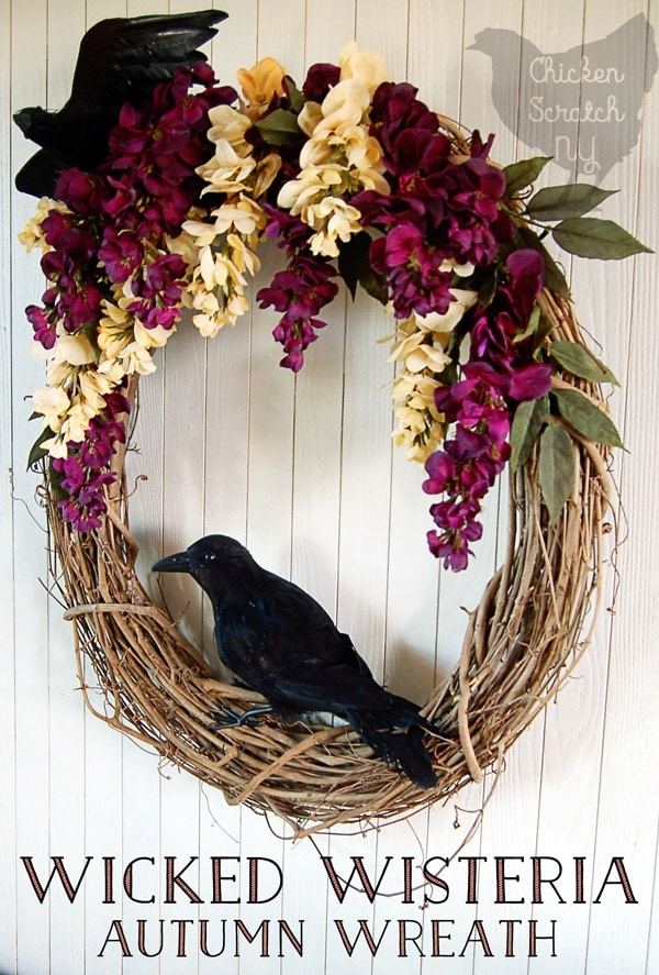 DIY Wisteria Fall Wreath